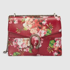 Get one of the hottest styles of the season! The Gucci Dionysus Blooms Print Red Leather Shoulder Bag is a top 10 member favorite on Tradesy. Leather Purses, Leather Handbags, Leather Bag, Red Leather, Gucci Fashion, Fashion Bags, Luxury Fashion, Fashion Accessories, Gucci Handbags