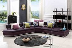 Tips That Help You Get The Best Leather Sofa Deal. Leather sofas and leather couch sets are available in a diversity of colors and styles. A leather couch is the ideal way to improve a space's design and th Leather Sofa Sale, Tufted Leather Sofa, Best Leather Sofa, Black Leather Sofas, Leather Armchairs, Brown Leather, Leather Sectional, Purple Leather, Dark Wood Furniture Living Room