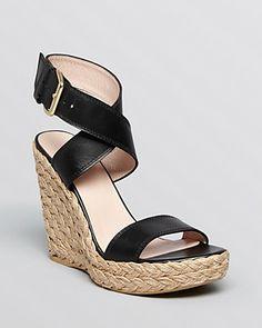 Stuart Weitzman Platform Espadrille Wedge Sandals - Xray | Bloomingdale's