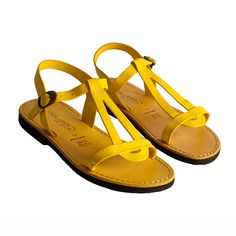 Yellow Sandals by Sandalishop.it