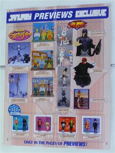 MARVEL/DC COMICS TOY POSTER: BUST/FIGURE/X-MEN MAGNETO/GREEN LANTERN/AQUAMAN/JLA