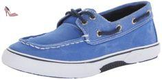 Sperry Halyard Garçons Chaussures bateau - Bleu-Blue-33.5 - Chaussures sperry top sider (*Partner-Link)