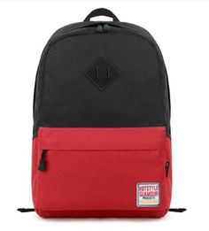 kmbuy - Korean Contrast-pinkycolor Style Unisex Fashionable Casual School Travel Shoulder Backpack Bag with Laptop Compartment / 45cm*28cm*17cm (black) - Click image twice for more info - See a larger selection of boys teens backpacks - kids, boys, little boys, school supplies, kids fashion , teenager, bags.
