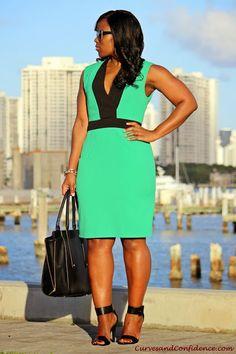 Resultado de imagem para curves and confidence Curvy Women Fashion, Plus Size Fashion, Womens Fashion, Petite Fashion, Fall Fashion, Style Fashion, Plus Size Dresses, Plus Size Outfits, Dresses For Work