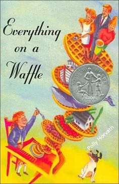 """I finished Polly Horvath's Everything on a Waffle in a week in fifth grade, taking turns with my mom reading aloud before bed. Although this book is """"Ages 10+,"""" its impact remains in my life even in my twenties.  #BookHugs #BooksThatMatter #BloomingTwigBooks #BloomingTwig #Books"""