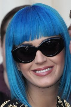 Katy Perry rocks a blue bob hairstyle