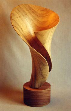 "Moonflower -16"" x 8"" x 7"" - bay laurel   made by John McAbery"