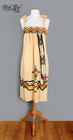 Indian Native American Vintage Festival Tent Dress - M Native American Wedding, Native American Clothing, Native American Beauty, Native Wears, Vintage Festival, Tent Dress, Indian Fashion, Native Fashion, Native Style