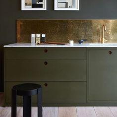 Grönt är skönt  #roi #roimakleri #kitchen #inspiration #inspo #followme #follow #kitcheninspo #gold : #pinterest