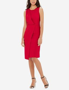 Drape Front Sheath Dress from THELIMITED.com $54.97