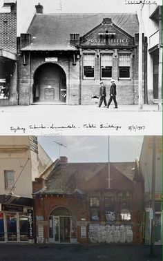 Old Annandale/Westgate Post Office Parramatta Rd 1927 & 2015 Street View/by Terry Hulme] Time In Sydney, Then And Now Photos, As Time Goes By, Post Office, South Wales, Historical Photos, 1920s, New Zealand, Taj Mahal