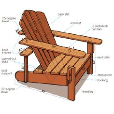 How to Build an Adirondack Chair!  Need my son to build me this one!!!