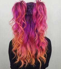 pink sunset hair