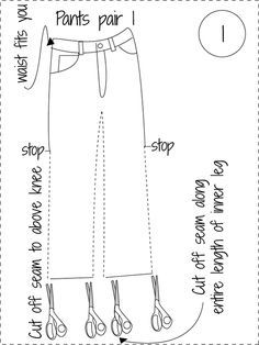 My Favorite Skirt - How to Make a Long Skirt from Recycled Jeans Super easy jean skirt tutorial! Makes a very comfortable and durable skirt.No seam ripper needed Diy Jeans, Sewing Jeans, Sewing Clothes, Diy Clothes, Skirt Sewing, Do It Yourself Fashion, Mode Jeans, Denim Ideas, Denim Crafts