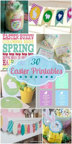 30+ Easter Printables. All free, all cute! Great round-up on { lilluna.com } Great for decor, gifts, and tags!!