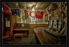 The 'Three Lamps' Bar Room ... Taken at the WWII Experience in Swansea Bay, Swansea, South Wales, UK -  Flickr - Photo Sharing!