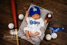 Jennifer Kanos Photography - Baseball Newborn I would want it to be the braves though