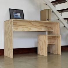 plywood desk and stool                                                                                                                                                     More