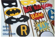 SUPER HERO Photo booth props batman robin by flutterbugfrenzy, $27.00