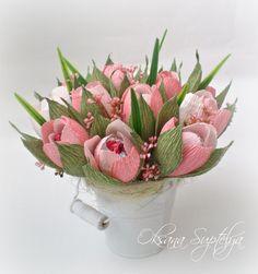 Racimo De 20 Rosebuds M 152 casa de muñecas en miniatura Flores Rosas Jardín