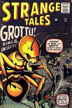 Strange Tales # 73 by Jack Kirby & Bill Everett Comic Book Pages, Comic Book Artists, Comic Book Covers, Marvel Comic Books, Comic Books Art, Star Comics, Marvel Comics, Marvel Vs, Marvel Masterworks