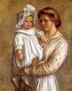Claude And Renee Aka Claude by Pierre Auguste Renoir