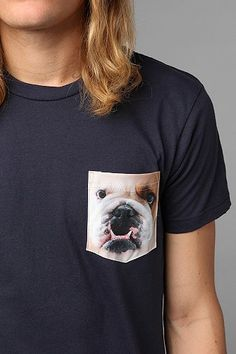 Bulldog Pocket Tee - awwwwwwww.