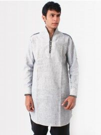 Buy #Bodyline #Men Grey #Pathani #Kurta @YuvaStyle India