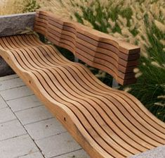 Wavy wood bench. Studio 43- bench