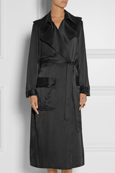 Michael Lo Sordo | Washed silk-satin trench coat | NET-A-PORTER.COM