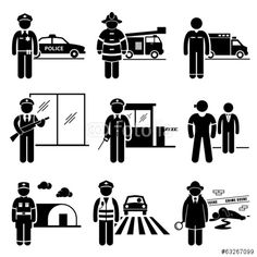 Vektor: Public Safety and Security Jobs Occupations Careers
