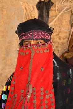 Bedouin Woman poses in the Sinai Desert, Egypt