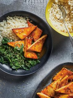 Looking for a delicious tofu recipe full of flavour? This easy vegetarian dish is bursting with orange flavour and is perfect for any weeknight! Chicken Recipes, Veggie Recipes, Healthy Recipes, Healthy Food, Vegan Food, Homemade Tofu, Veggie Lasagna, Salads, Vegetarian Recipes
