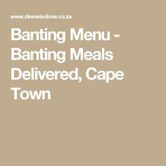 Banting Menu - Banting Meals Delivered, Cape Town