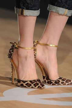 Stunning Leopard Print Heels --  25 High Fashion High Heels on the Street that You Absolutely Must See - Style Estate -