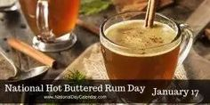 National Hot Buttered Rum Day Depending on where you are at on this January winter day, it may be warm, chilly, cold or very cold. Enjoying a hot buttered rum drink would sure be a good way to war. Winter Cocktails, Tea Cocktails, Christmas Cocktails, Holiday Drinks, Cocktail Recipes, Drink Recipes, Hot Buttered Rum, Autumn Tea, Fett