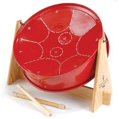 Authentic Calypso Steel Drum™ Child-Size Drum, $95  Children can't get enough of this authentic Caribbean drum and you won't mind a bit — the mellow sound is never brassy or loud. Precision-tuned with nine labeled notes (C scale octave plus one).