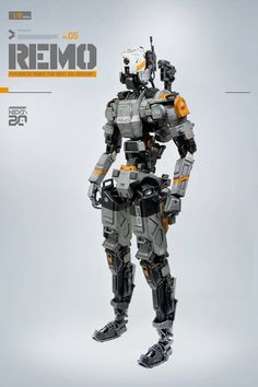 ▓ REMO ▓ ﹝ 1:6 scale Robotic scratch build & Designed by ByManStudio ﹞ Futuristic Robot, Futuristic Armour, Arte Robot, Robot Art, Combat Armor, Humanoid Robot, Robots Characters, Cool Robots, Arte Cyberpunk