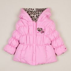 Girls Solid Reversible to Leopard Jacket ....only $20, seriously!