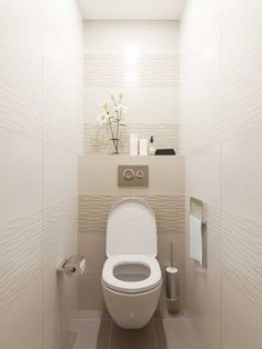 When you're trying to create or remodel a small bathroom, focusing on small bath design is critical. Small Toilet Design, Small Toilet Room, Small Bathroom, Bathroom Bidet, Downstairs Bathroom, White Bathroom, Bathroom Design Luxury, Bathroom Layout, Modern Bathroom Design