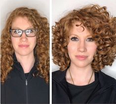 Mind Blowing Hair Transformation Before & After Photos - Gallery Grey Curly Hair, Long Gray Hair, Curly Hair Cuts, Curly Hair Styles, Layered Curly Haircuts, Long Layered Hair, Long Haircuts, Before After Hair, Before And After Haircut