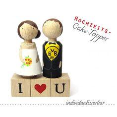 shopandmarry.de: Hochzeits-Cake Topper  I love you!  Tortenfiguren