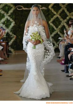 Belle robe de mariage 2013 sirène blanche bustier dentelle organza