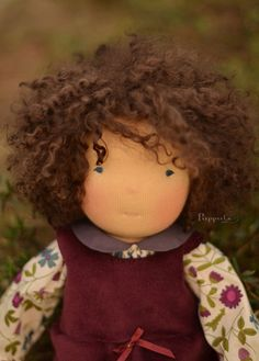 Goodness, what a beautiful work of art! Alma, 17/18 inch waldorf inspired doll