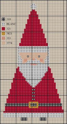 El blog de Dmc: Decoración de Papá Noel en punto de cruz                                                                                                                                                     Más