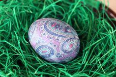 Un huevo de pascua hecho con tela :D