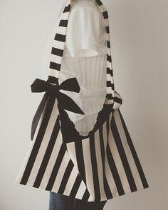 Created black border stripe bag.  #handmade #fashionitems #fashiontrends #blackandwhite