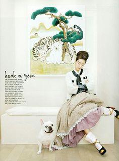 Hanbok with Moschino jacket | modern style