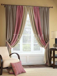 """Комплект штор """"Пейто"""": купить комплект штор в интернет-магазине ТОМДОМ #томдом #curtains #шторы #interior #дизайнинтерьера"""