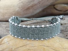 Green And Grey, Macrame, Trending Outfits, Unique Jewelry, Bracelets, Handmade Gifts, Silver, Etsy, Vintage